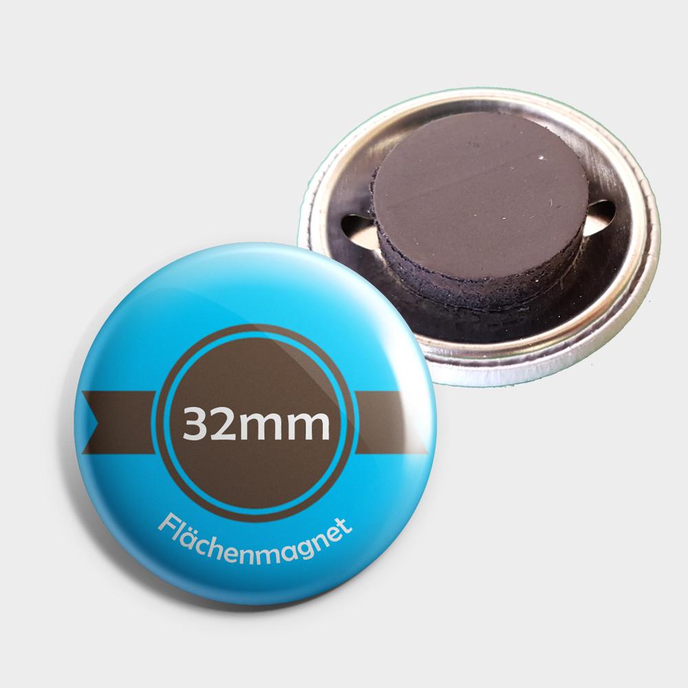 32mm Buttons als Kühlschrankmagnet