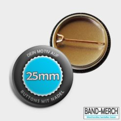 25mm Buttons mit Nadel