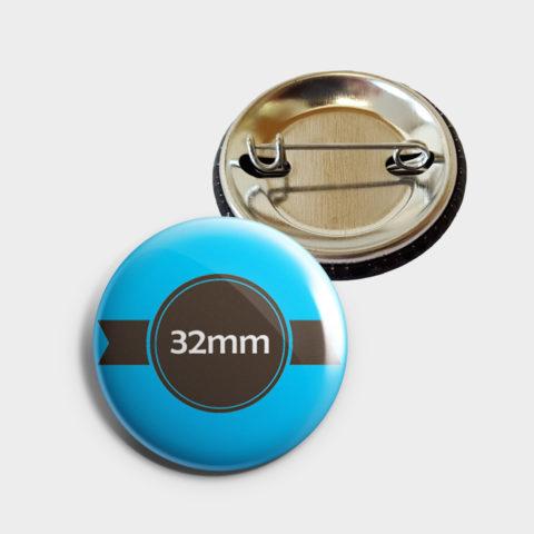 32mm Buttons bestellen mit Sicherheitsnadel