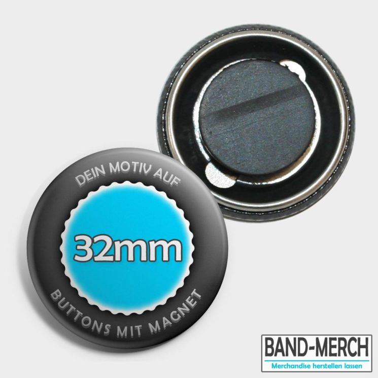 32mm Buttons mit Magnet