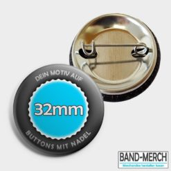 32mm Buttons mit Nadel