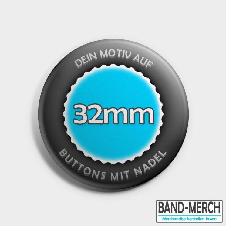 32mm Buttons mit Nadel vorne