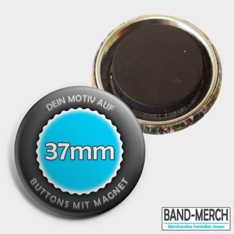 37mm Buttons mit Magnet
