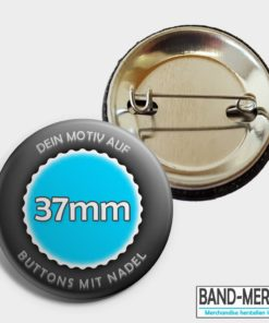 37mm buttons mit Nadel