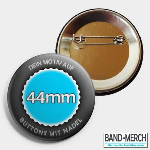 44mm Buttons mit Nadel