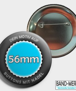 56mm Buttons mit Nadel
