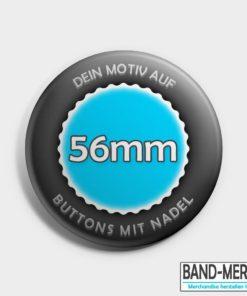 56mm Buttons mit Nadel vorne