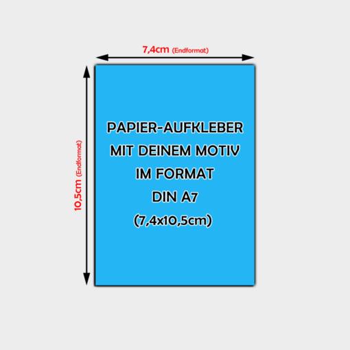 Papier-Aufkleber Din A7 Hochformat