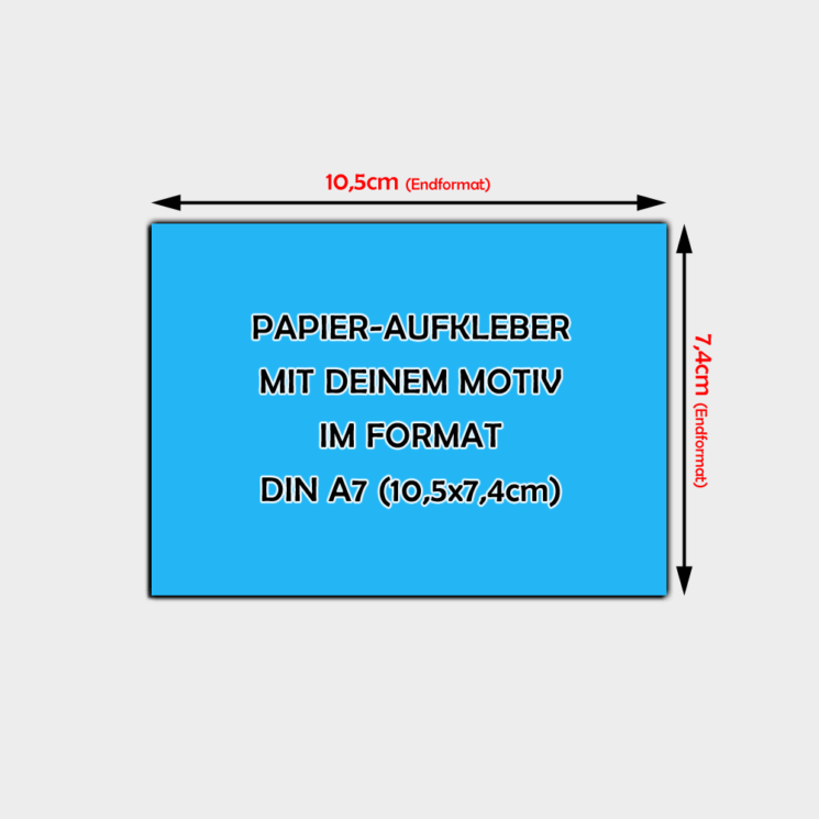 Papier-Aufkleber Din A7 Querformat