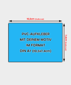 PVC-Folien Aufkleber Din A7 Querformat
