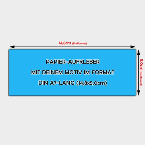 Papier-Aufkleber Din A7-Lang Querformat