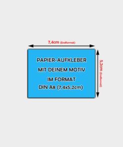 Din A8 Papier-Aufkleber Querformat