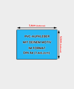 PVC-Folien Aufkleber Din A8 Querformat