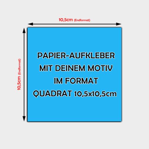quadratische Papier Aufkleber 10,5 x 10,5cm