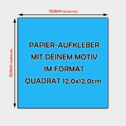 quadratische Papier Aufkleber 12 x 12cm