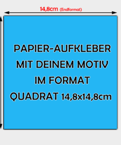 quadratische Papier Aufkleber 14,8 x 14,8cm