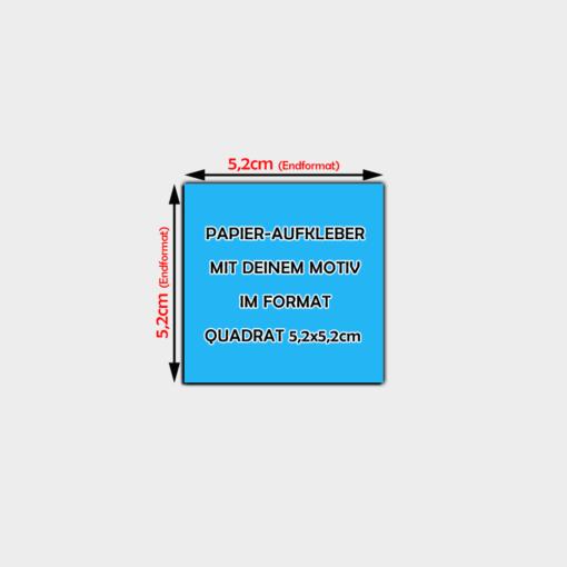 quadratische Papier-Aufkleber 5,2x5,2cm