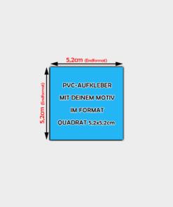 PVC Aufkleber Quadrat 5,2 x 5,2cm