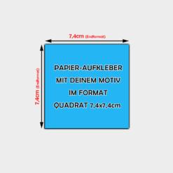 quadratische Papier Aufkleber 7,4 x 7,4cm