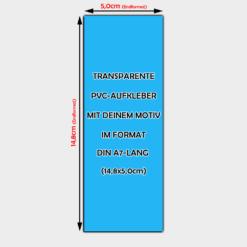 transparente Aufkleber Din A7-Lang Hochformat