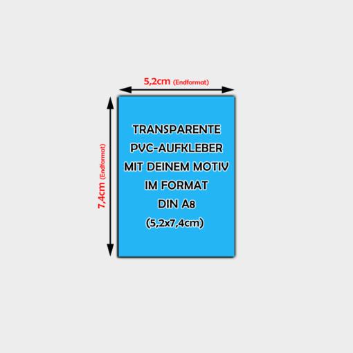 transparente Aufkleber Din A8 Hochformat