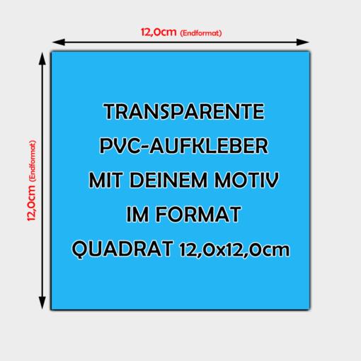 Transparente Aufkleber Quadratisch 12cm