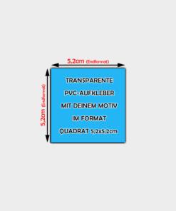 Transparente Aufkleber Quadratisch 5,2cm