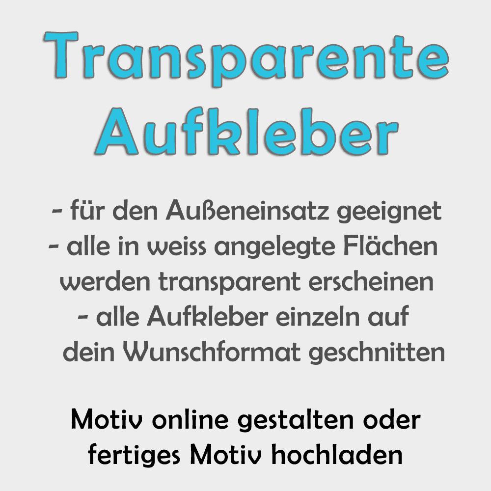transparente Folien-Aufkleber