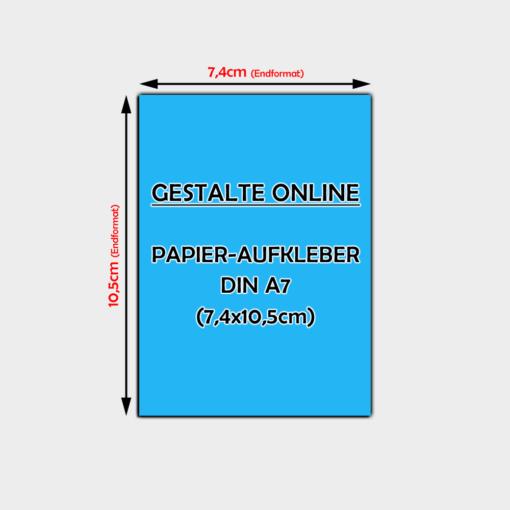 Aufkleber Online Gestalten Din A7 Papier Aufkleber 74 X 105cm