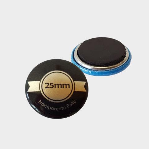 25mm Silber Buttons mit Magnet