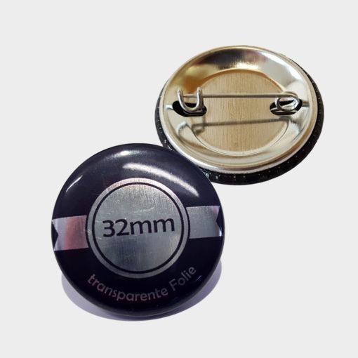 32mm silber buttons bestellen