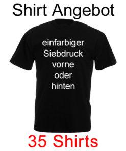 35 Shirts einfarbig bedruckt mit deinem Motiv