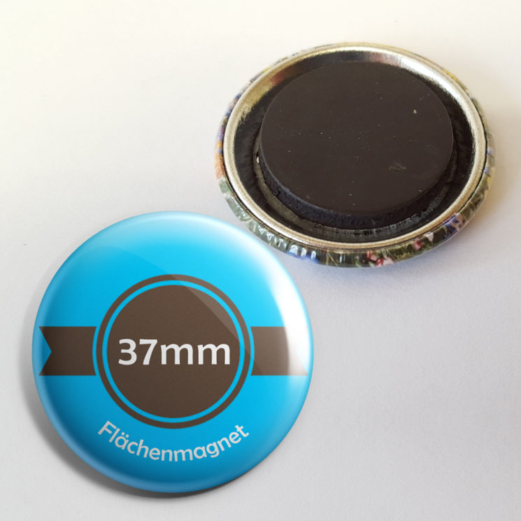 37mm buttons als Kühlschrankmagnet