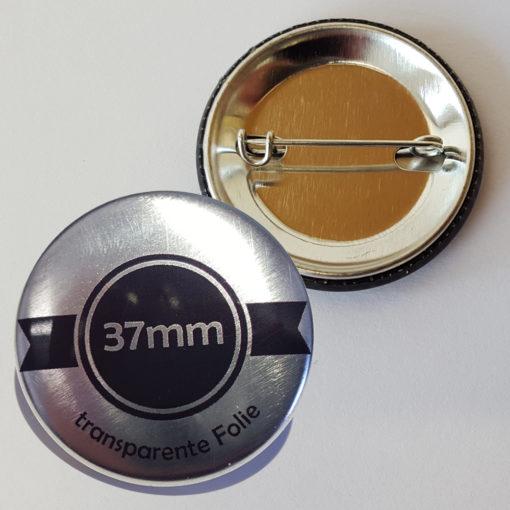 37mm silber buttons drucken lassen