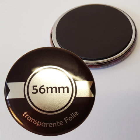 56mm Silber Buttons mit Magnet