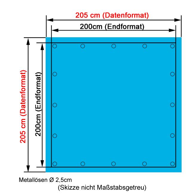 PVC Bandbanner 2x2m drucken lassenPVC Bandbanner 2x2m drucken lassen