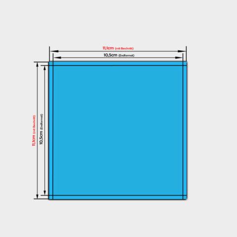 aufkleber quadratisch 10,5x10,5cm PVC-Folie