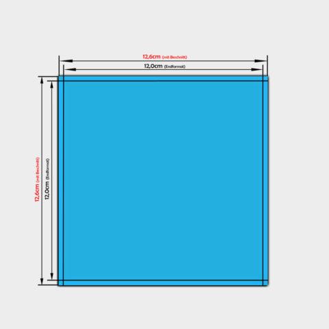 quadratische Papier Aufkleber 12x12cm