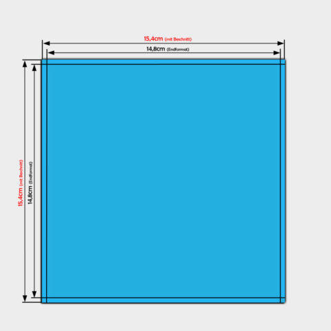 PVC-Folien Aufkleber bestellen quadrat 14,8x14,8cm