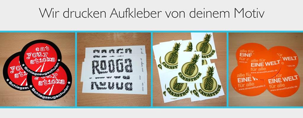 Aufkleber drucken lassen bei band-merch.de