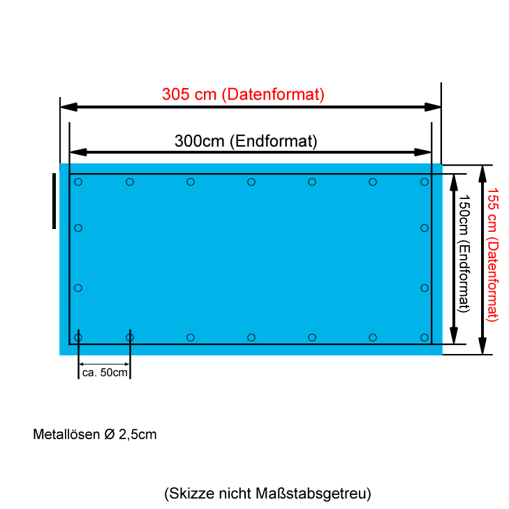 Bühnenbanner 1,5x3m drucken lassen