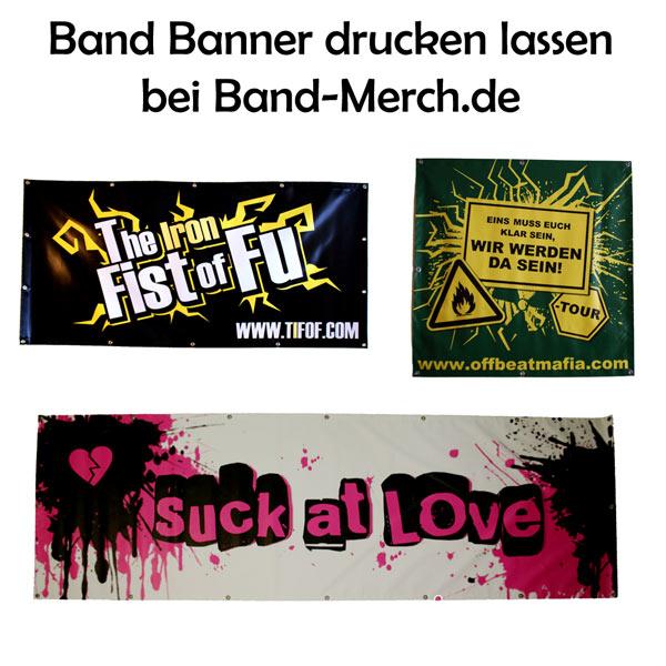 Band Banner drucken lassen