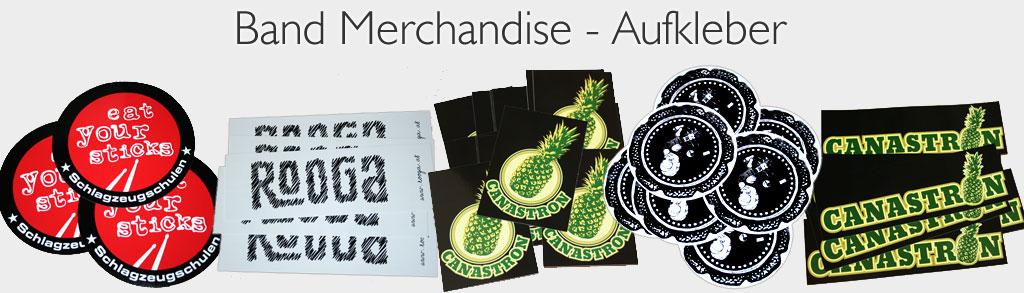 Band Merchandise Aufkleber
