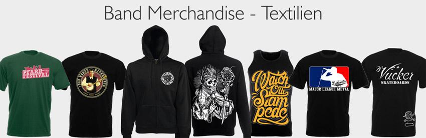 Band Merchandise Textilien