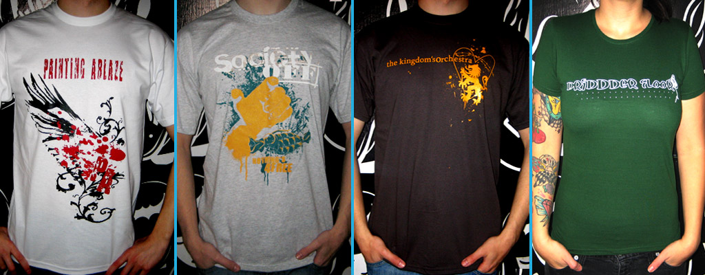 Band Shirts drucken lassen bei band-merch.de