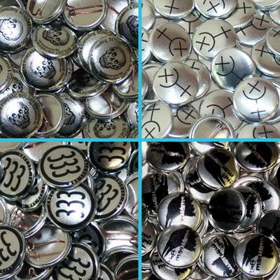 Silber Bandbuttons bestellen