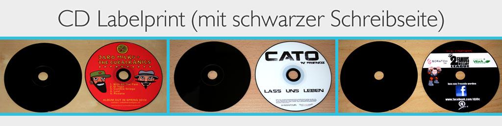 cd labelprint schwarze cds