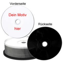 CDs drucken lassen mit schwarzer Brennseite