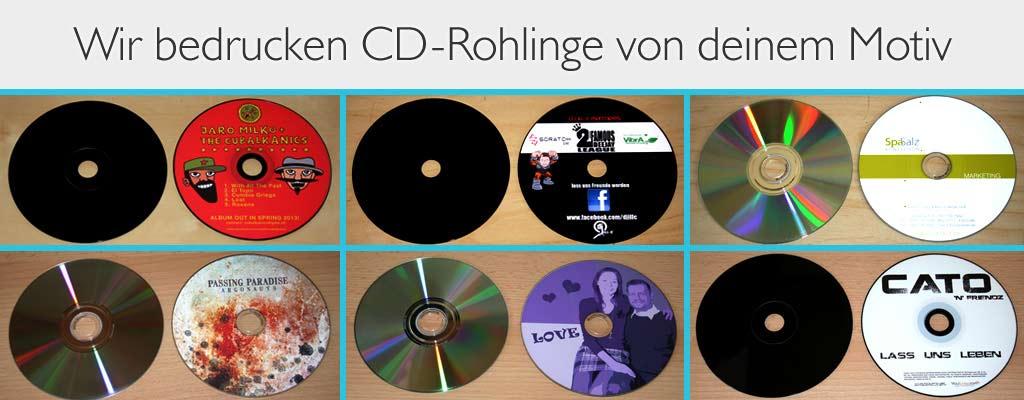 CD Rohlinge bedrucken lassen