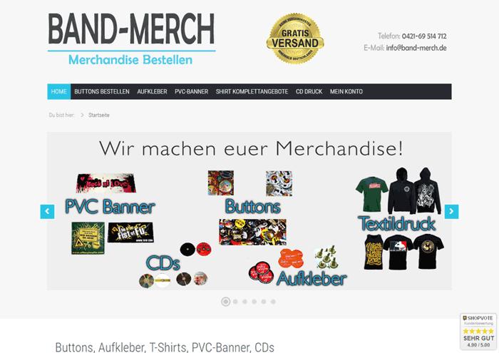 band-merch.de Screenshot